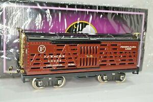 10-2213 PRR MTH Tinplate Traditions 513 Lionel Standard Gauge Cattle Train Car