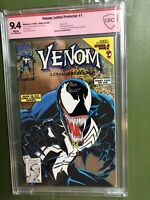 Gold Venom Lethal Protector 1 CBCS 9.4 WHITE Pages Mark Bagley Verified Auto