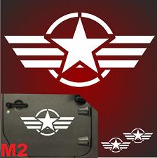 2x 57cm 8 Motive US Army Retro Sterne Auto Aufkleber Sterne USAF jeep USA Army F