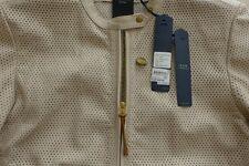 G-Star  Damen Leder Jacke Größe L, Shirt CL Bomber Beige  NEU mit Etikett.