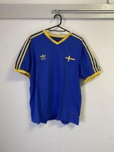 Sweden Blagult Soccer Jersey Shirt Adidas FIFA World Cup L