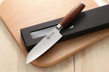 KATSURA Japanese VG-10 3 Layers Forged Steel Santoku Knife, 5-Inch vs Ran Shun