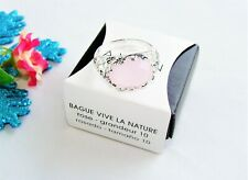 Lovely! Silvertone AVON INTO THE WILD RING Pink Stone Size 6 New!