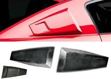 FIT 05-09  MUSTANG BLACK PU ADD ON REAR QUARTER SLN WINDOW COVER LOUVER SCOOP
