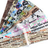 10Pcs Newspaper Series Nail Foils Stickers Transfer Papers Nail Art Decorations