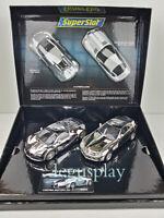Slot Scalextric Superslot H3169A Bugatti Veyron/Mercedes SLR McLaren Cromados