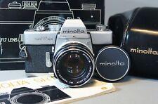 MINOLTA SRT 101 35mm SLR film Camera MC ROKKOR-PF 55mm f1.7 Lens CAP CASE BOX