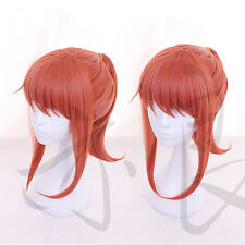 Miss Kobayashi's Dragon Maid Kobayashi Orange Red Pony Tail Cosplay Hair Wig