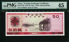 China ( Foreign Exchange Certificates ) 1979, 50 Yuan, FX6,PMG 45  EF