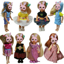 Lovely Clothes Dress Skirt Outfits for 10cm Girls Doll Toy Gift Princess Kelly