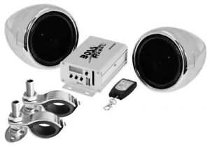 Boss Audio MC520B 600w RMS Bluetooth Speakers + Handlebar System Motorcycle/ATV