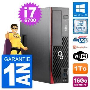 PC Fujitsu Esprimo D556 DT Intel i7-6700 RAM 16Go Disque Dur 1To Windows 10 Wifi