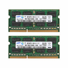SAMSUNG 8GB 2x4GB PC3-10600 DDR3 1333MHZ 204pin laptop RAM MEMORY APPLE MAC ETC