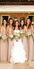 Adrianna Papell  Art Deco Lavishy Embellished Gown 12 Bridesmaid STUNNING!