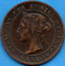 Canada 1899 1 Cent One Large Cent Coin - EF