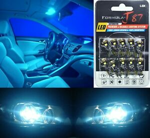 Canbus Error LED Light 194 Icy Blue 8000K Ten Bulbs Step Door Replacement Lamp