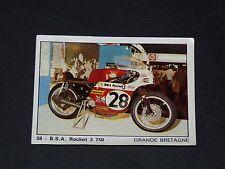 #58 B.S.A. ROCKET 3 750 UK MOTO 2000 PANINI EDITIONS DE LA TOUR 1973