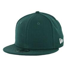 "New Era 9Fifty ""Plain Blank"" Snapback Hat (Dark Green) Men's Uniform Cap"