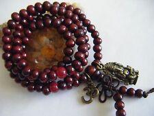 """Spiritual Unisex Mala Necklace Stacking Bracelet Ganesh/Ganesha OM Yoga 20"""""""
