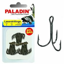 Paladin BIG BAG Laserdrillinge Gunsmoke 24 Stk. Gr. 10 Drilling Angel-Haken