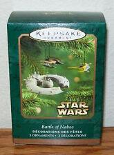 2001 Hallmark Star Wars Battle of Naboo Set of Three Miniatures NIB QXM5212