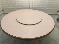 """Dining Table with Lazy Susan 60"""" diameter - seating for 6 People"""