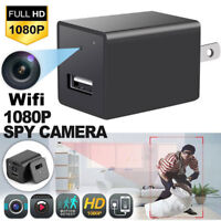 Wifi HD 1080P Spy Hidden Camera USB Wall Charger Video Recorder Security Cam SP