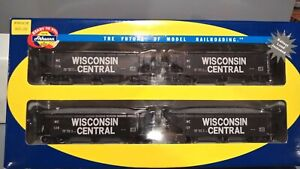 Athearn Ready To Roll Wisconsin Central WC 40' Ballast Hopper 4 Pack 95699