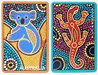 PAIR SWAP CARDS. AUSTRALIAN ANIMALS. KOALA & GOANNA. DOT PAINTING DESIGN