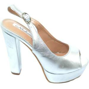 Sandalo donna alto argento satinato allacciatura chanel open toe con plateau e t