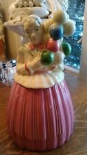 Vintage Cookie Jar Hand Painted Pottery Quild of America