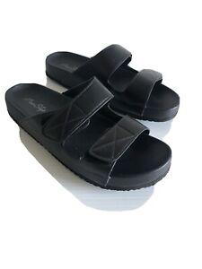 Miss Shop Adjustable Slide Sandals Size 8