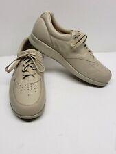 SAS Mens Diabetic Comfort Shoes sz 10S Beige Leather Lace Up Shoe Great Cond