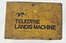 Teledyne Landis Machine Treading Equipment 1516 X 2 12 Un Throat Std Short