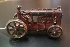 Unmarked Arcade Cast Iron Toy Tractor w/ Driver