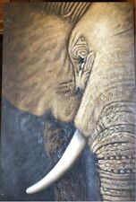 Elephant painting 90x60cm canvas