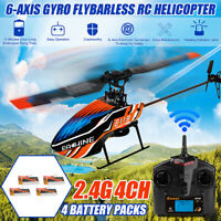 Eachine E119 2.4G 4CH 6-Axis Gyro Flybarless RC Helicopter + 1/2/3/4pcs Battery