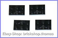 Lego 4 x placa negro - 3021 placas - 2x3 Black plate plates-nuevo/new