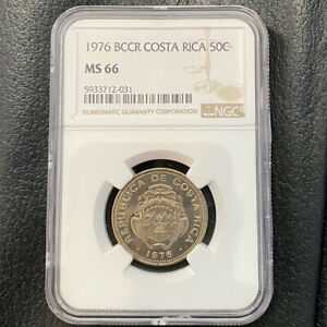 Banco Central de Costa Rica 50 Centimos 1976 NGC MS 66 KM# 189.3
