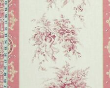 Pink angel toile fabric floral stripe French home decorating material