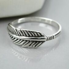 Sterling Silver Feather Precious Metal Rings without Stones
