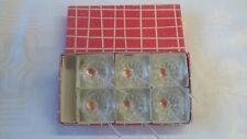 VINTAGE BAVARIA GLASS, CZECH SALT CELLARS WITH SPOONS IN ORIGINAL BOX, SET OF 6