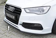 Rieger FRONT SPOILER SPADA IN NERO LUCIDO PER AUDI a3 8v Limousine/Cabrio S-LINE