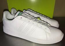 Adidias Cloudfoam Advantage Clean Sneakers White Green AW3914 tennis Shoe Sz 11