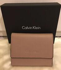 Calvin Klein pequeño sereno Cartera de Cuero Gris Pardo Triple En Caja BNWT