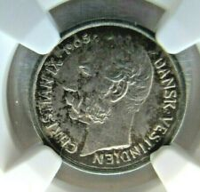 Danish West Indies 10 Cents/50 Bit 1905 NGC AU 58