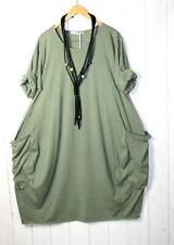 Moonshine Kleid  Ballonkleid  48 50 52  Lagenlook Grün Taschen Neu