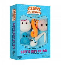 Let's Get It On Box-5 Plush Microbes-Baby Shower Maternity Sex Ed Gift Sperm Egg