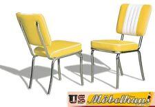CO24 JAUNE BEL AIR Meuble 2 chaises dîner de cuisine dans le style 50er ans USA