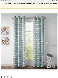 "Intelligent Design Lita Curtain Panels (2) 84"" Gray"